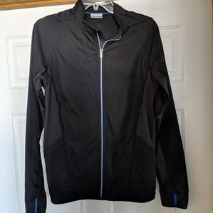 Asics men's lightweight black jacket